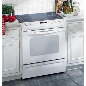 "GE Profile 30"" Slide-In CleanDesign Electric Range"