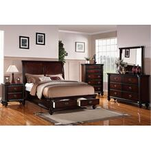 Xavier Master Bed, Eastern-king, Dark-cherry