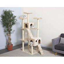 See Details - Ultimate Scratching Cat Lounge Pet Kitten House - iPet - Beige