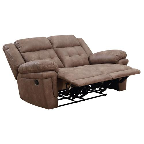 Anastasia Manual Reclining Loveseat, Cocoa