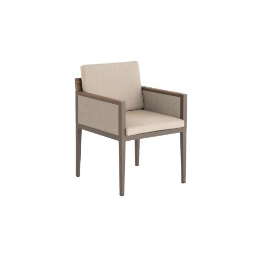 Alfresco Home - Hewitt Dining Arm Chair w/ seat and back cushions