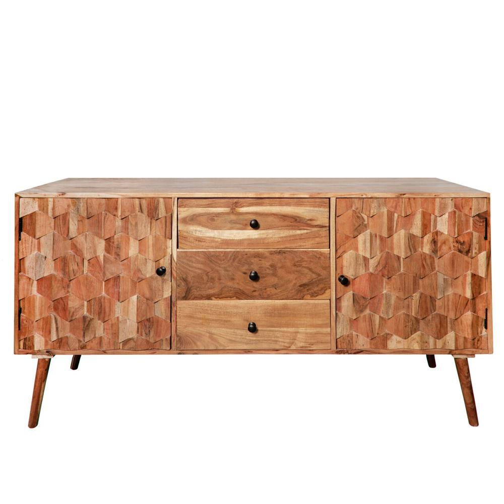 """30"""" Wood Console Table W/ 3 Drawers, Brown Kd"""