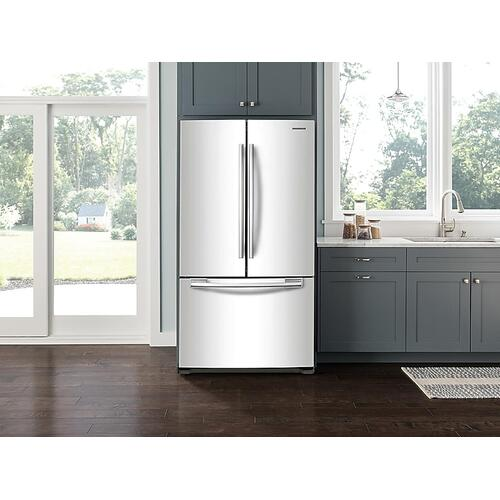 18 cu. ft. Counter Depth French Door Refrigerator in White