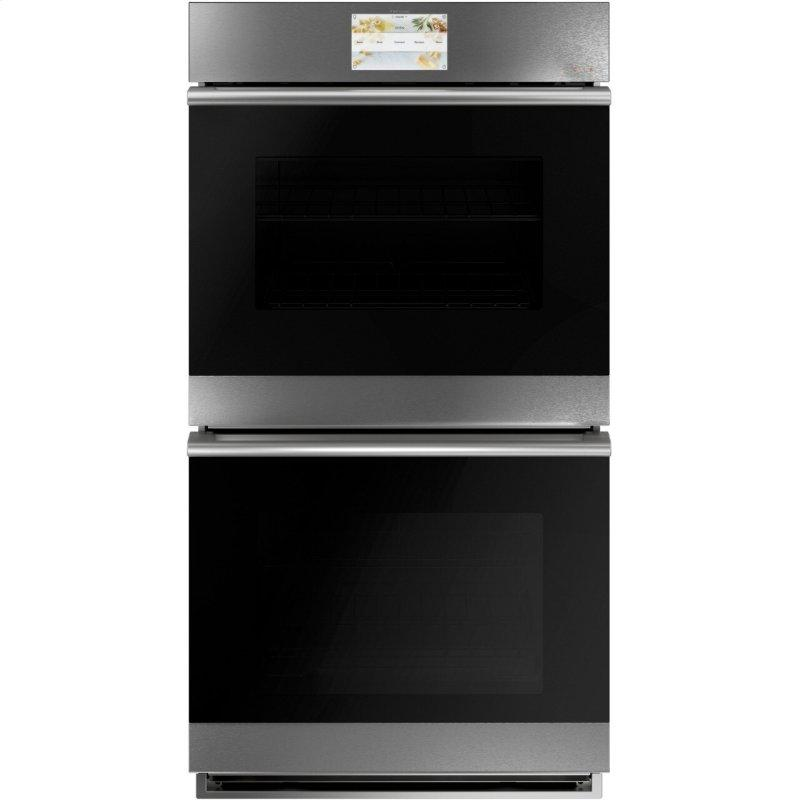 """27"""" Smart Double Wall Oven with Convection in Platinum Glass"""
