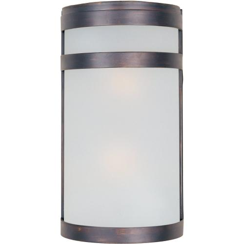 Arc LED 2-Light Outdoor Wall Sconce