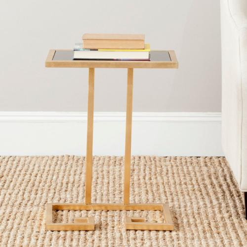 Murphy Gold Leaf Accent Table - Gold / Black