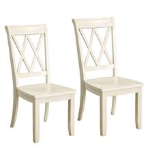 Vintage Distressed 2-Pack Vanilla Side Chairs