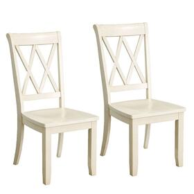 Vintage Distressed 2-Pack Vanilla Side Chairs
