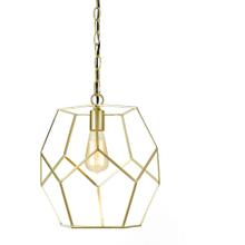 AF Lighting Bellini One Light Pendant in Brushed Gold, 9133-1P