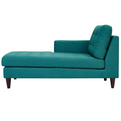 Modway - Empress Left-Arm Upholstered Fabric Chaise in Teal