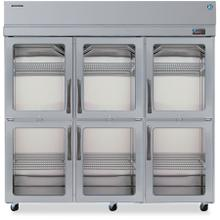 Product Image - Refrigerator, Three Section Upright, Half Glass Door