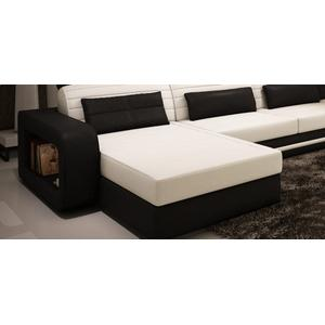 Divani Casa 1005C - Contemporary Black and White Bonded Leather Sectional Sofa