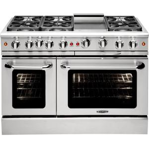 "Precision 48"" Gas Manual Clean Range"