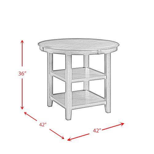 "Elements - 42"" Amherst Counter Table & 4 Stools w/Wood Leg Grey Finish     (DAH-350-CT,75265)"