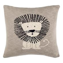 Dandy Lion Pillow - Grey / Natural / Black