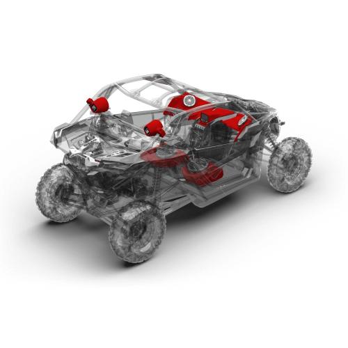 Rockford Fosgate - 1000 watt stereo, front speaker, subwoofer, & rear speaker kit for 2017-2018 Maverick X3 models