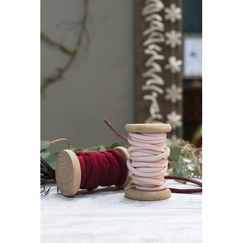 5.5 yards Light-Pink Velvet Yarn Spool