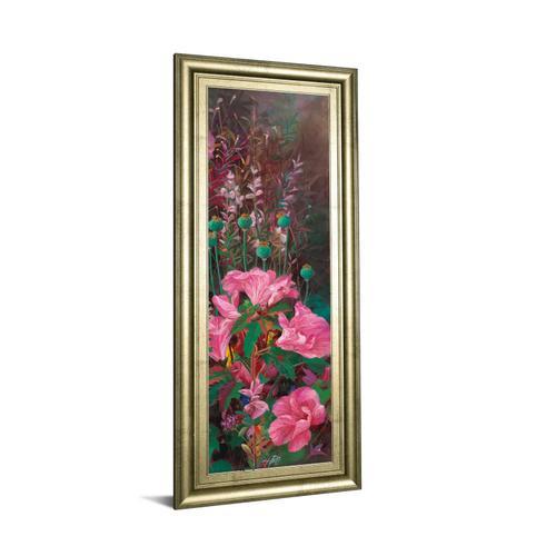 """""""Pink Azalea Garden Il"""" By Li Bo Framed Print Wall Art"""