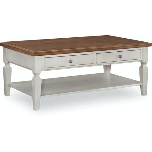 John Thomas Furniture - Coffee Table in Hickory & Shell