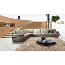 Divani Casa Ozia Modern Grey Leather Sectional