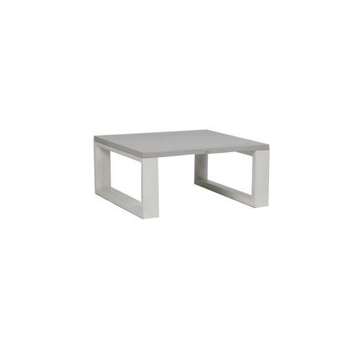 "Ratana - Element 5.0 40"" Square Coffee Table w/ Aluminum Top"
