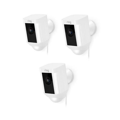 3-Pack Spotlight Cam Wired - White