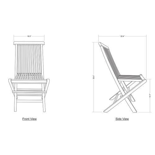 Gallery - Folding Chair - Teak C - Grey