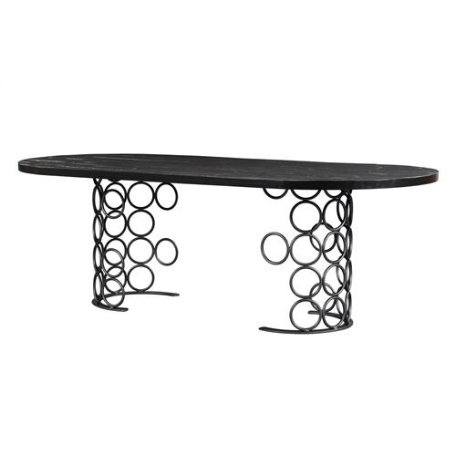 Product Image - Valentina Black Dining Table