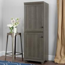 2-Door Narrow Storage Cabinet - Gray Maple