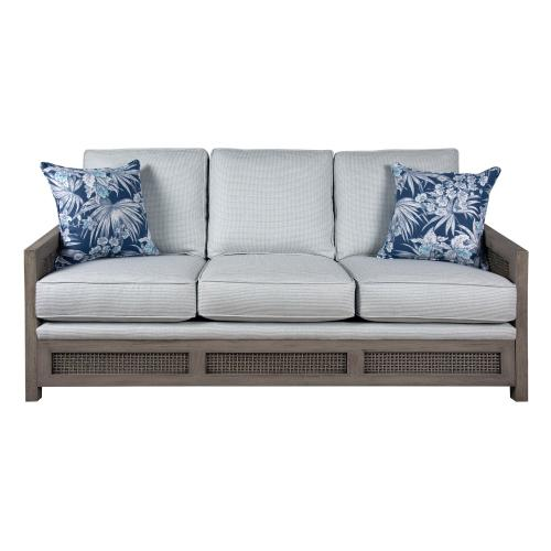Queen Sleeper, Sofa Arms available in Distressed White or Distressed Grey Finish.