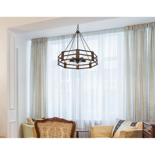 60W x 5 Provo metal chandelier