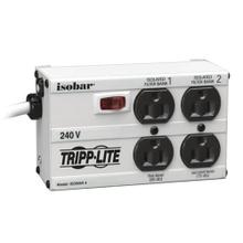 See Details - Isobar 4-Outlet 230V Surge Protector, 6 ft. (1.83 m) Cord with Right-Angle Plug, 330 Joules, Metal Housing