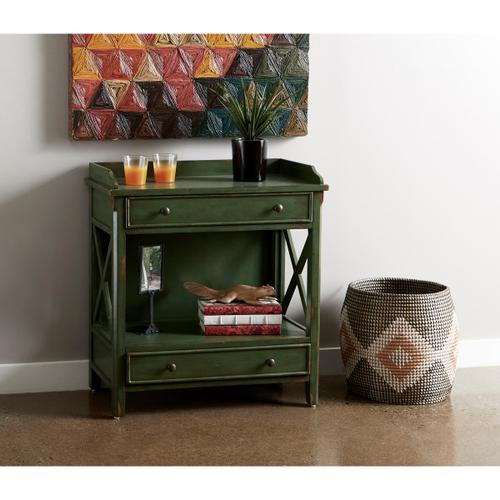 X Side Panel Green Accent Chest