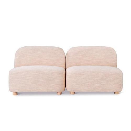 Product Image - Circuit Modular 2-pc Armless Sofa Huron Petal / Natural Ash