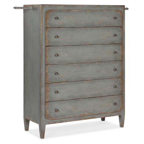 Ciao Bella Six-Drawer Chest- Speckled Gray