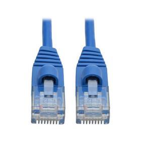 Cat6a 10G Snagless Molded Slim UTP Ethernet Cable (RJ45 M/M), Blue, 2 ft.