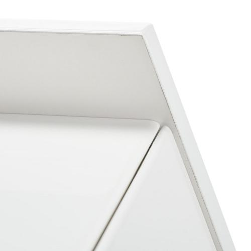 Xander Modern Secretary Desk - White / White