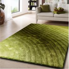Soft Three Dimensional Polyester Viscose Hand Tufted 3D 303 Shag Area Rug by Rug Factory Plus - 5' x 7' / Green
