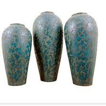 Medium Turquoise Barrilito Floor Pot