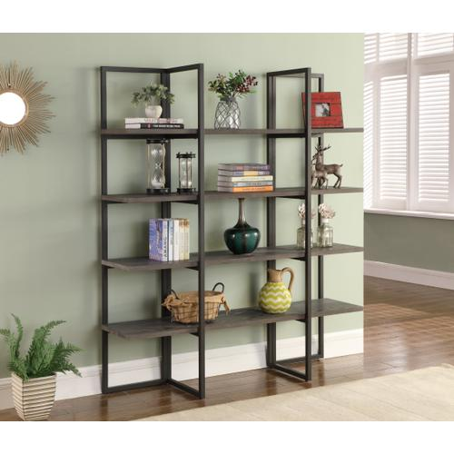 "Emerald Home Atari Bookshelf 60"" Antique Grey Ac390-60"