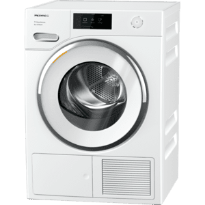MieleTXR 860 WP Eco & Steam - T1 Heat-pump tumble dryer with Miele@home and SteamFinish for smart laundry care.