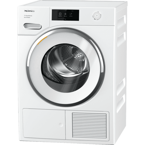 Miele - TXR 860 WP Eco & Steam - T1 Heat-pump tumble dryer with Miele@home and SteamFinish for smart laundry care.