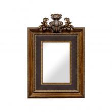 See Details - Large Carved Honey Walnut Mirror