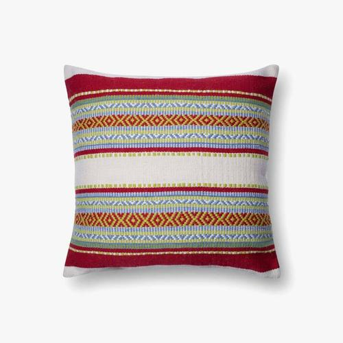 P0213 In/out Red / Multi Pillow