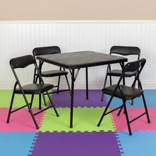 Kids Black 5 Piece Folding Table and Chair Set