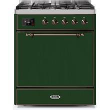 "30"" Inch Emerald Green Natural Gas Freestanding Range"
