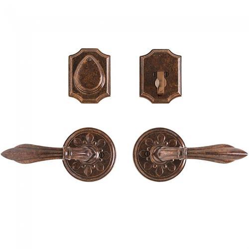 "Rocky Mountain Hardware - Round Bordeaux Entry Set - 3 1/4"" Silicon Bronze Brushed"