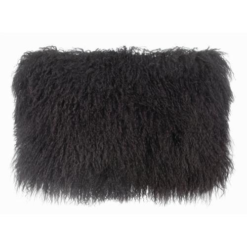 Tov Furniture - Tibetan Sheep Dark Grey Long Pillow