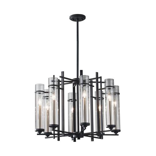 Ethan Large Chandelier Antique Forged Iron / Brushed Steel