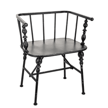 See Details - Distressed Black Spindle Chair